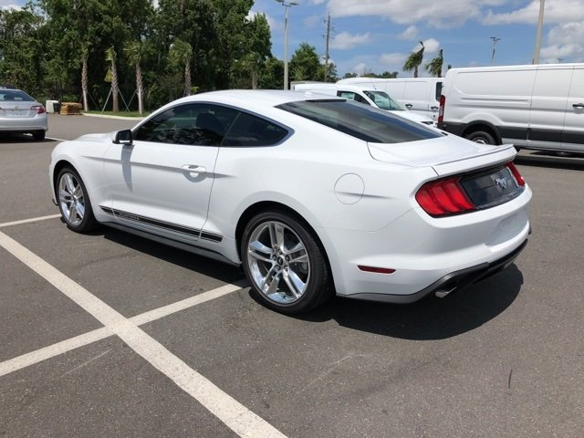 2018 Oxford White Ford Mustang EcoBoost Premium RWD Automatic Coupe EcoBoost 2.3L I4 GTDi DOHC Turbocharged VCT Engine