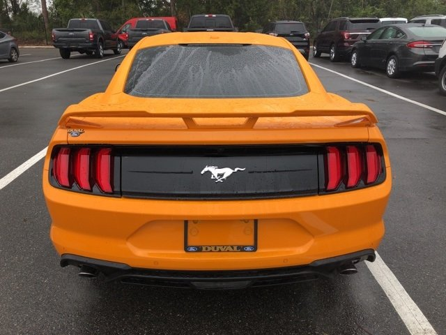 2018 Orange Fury Metallic Tri-Coat Ford Mustang Manual RWD EcoBoost 2.3L I4 GTDi DOHC Turbocharged VCT Engine