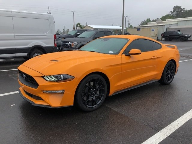 2018 Orange Fury Metallic Tri-Coat Ford Mustang Coupe Manual 2 Door RWD EcoBoost 2.3L I4 GTDi DOHC Turbocharged VCT Engine