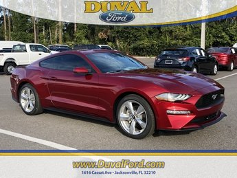 2019 Ruby Red Metallic Tinted Clearcoat Ford Mustang EcoBoost Automatic 2 Door RWD EcoBoost 2.3L I4 GTDi DOHC Turbocharged VCT Engine