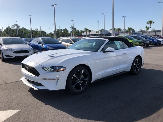 2018 Oxford White Ford Mustang EcoBoost RWD Automatic EcoBoost 2.3L I4 GTDi DOHC Turbocharged VCT Engine