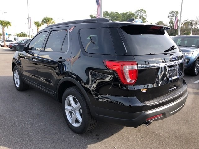 2019 Agate Black Metallic Ford Explorer Base Automatic 2.3L I4 Engine 4 Door FWD