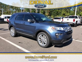 2019 Blue Metallic Ford Explorer XLT 3.5L V6 Ti-VCT Engine 4 Door FWD