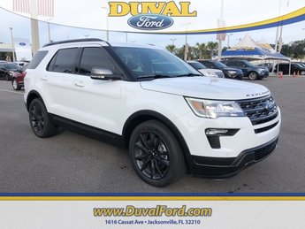 2019 Oxford White Ford Explorer XLT FWD Automatic 3.5L V6 Ti-VCT Engine SUV 4 Door