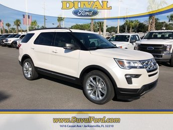 2019 White Metallic Ford Explorer XLT Automatic FWD 4 Door SUV 3.5L V6 Ti-VCT Engine