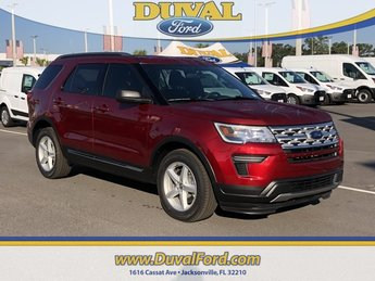 2019 Ruby Red Metallic Tinted Clearcoat Ford Explorer XLT 4 Door SUV 3.5L V6 Ti-VCT Engine FWD