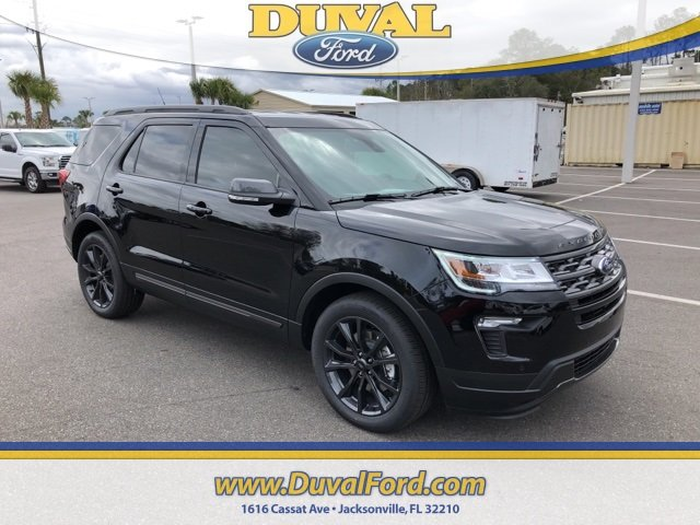 2019 Agate Black Metallic Ford Explorer XLT 4 Door FWD 2.3L I4 Engine Automatic SUV