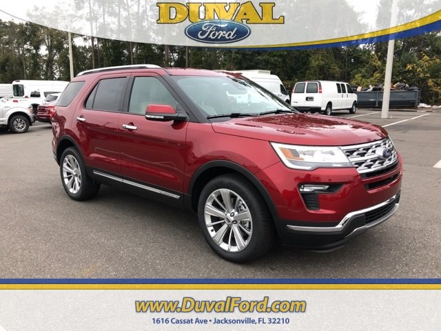 2019 Ruby Red Metallic Tinted Clearcoat Ford Explorer Limited SUV Automatic 2.3L I4 Engine
