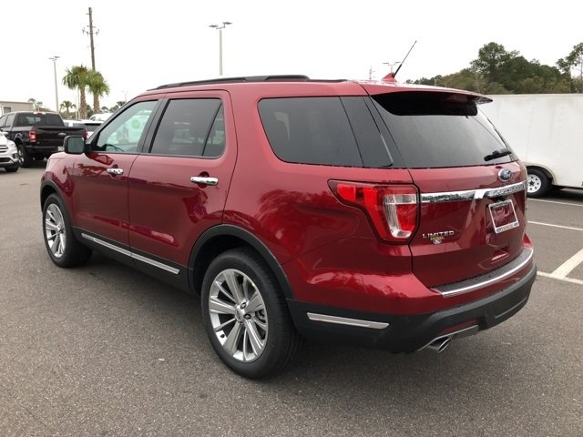 2019 Ruby Red Metallic Tinted Clearcoat Ford Explorer Limited 4 Door SUV FWD 2.3L I4 Engine