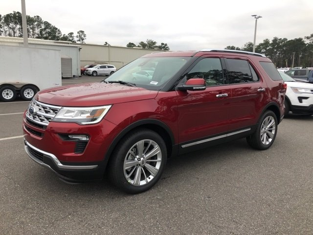 2019 Ruby Red Metallic Tinted Clearcoat Ford Explorer Limited 2.3L I4 Engine FWD SUV 4 Door