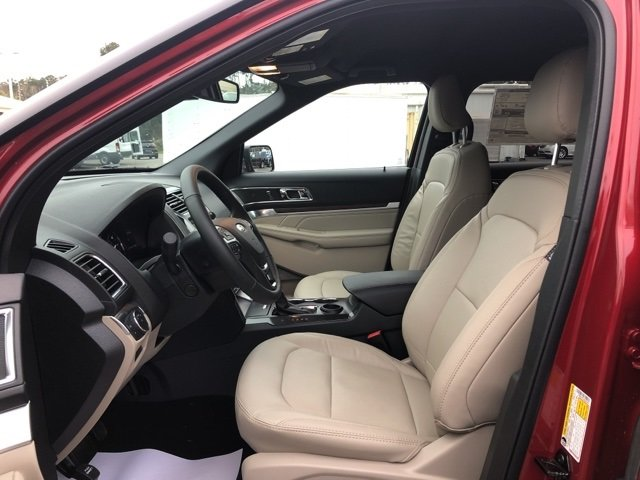 2019 Ruby Red Metallic Tinted Clearcoat Ford Explorer Limited FWD 4 Door 2.3L I4 Engine Automatic