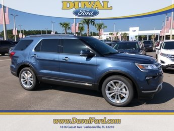 2018 Blue Metallic Ford Explorer Limited SUV Automatic 4 Door 2.3L I4 Engine FWD