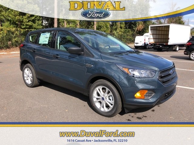 2019 Baltic Sea Green Metallic Ford Escape S FWD 2.5L iVCT Engine 4 Door