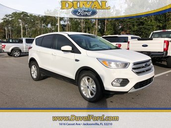 2019 Oxford White Ford Escape SE SUV EcoBoost 1.5L I4 GTDi DOHC Turbocharged VCT Engine FWD Automatic 4 Door