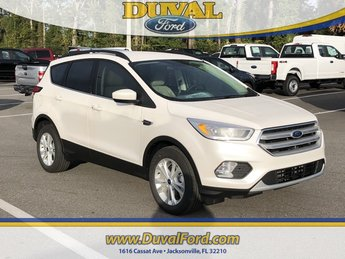 2019 White Platinum Clearcoat Metallic Ford Escape SEL 4 Door EcoBoost 1.5L I4 GTDi DOHC Turbocharged VCT Engine Automatic SUV FWD