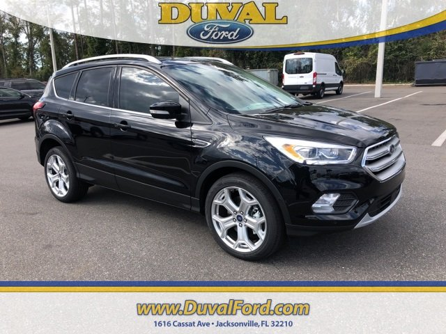 2019 Agate Black Metallic Ford Escape Titanium EcoBoost 2.0L I4 GTDi DOHC Turbocharged VCT Engine SUV 4 Door Automatic