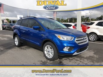 2019 Lightning Blue Metallic Ford Escape SEL 4 Door 4X4 SUV EcoBoost 1.5L I4 GTDi DOHC Turbocharged VCT Engine
