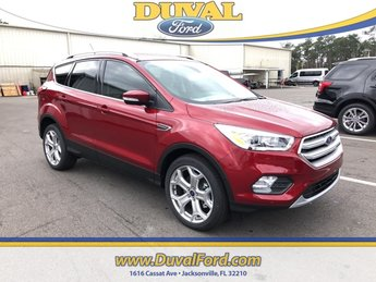2019 Ruby Red Metallic Tinted Clearcoat Ford Escape Titanium 4X4 Automatic EcoBoost 2.0L I4 GTDi DOHC Turbocharged VCT Engine