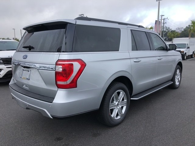 2019 Ingot Silver Metallic Ford Expedition Max XLT Automatic EcoBoost 3.5L V6 GTDi DOHC 24V Twin Turbocharged Engine 4 Door SUV RWD
