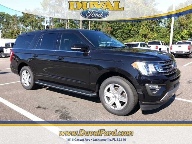 2019 Agate Black Ford Expedition Max XLT EcoBoost 3.5L V6 GTDi DOHC 24V Twin Turbocharged Engine SUV RWD 4 Door
