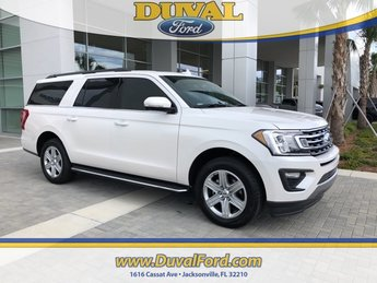 2018 White Metallic Ford Expedition Max XLT Automatic EcoBoost 3.5L V6 GTDi DOHC 24V Twin Turbocharged Engine 4 Door SUV RWD