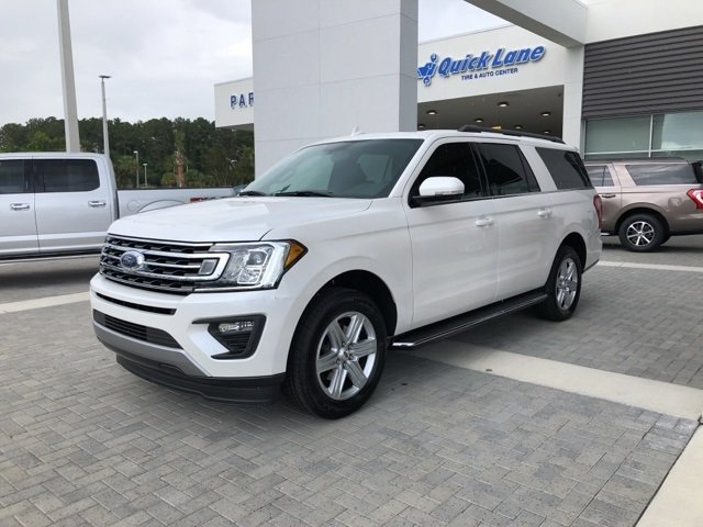 2018 White Metallic Ford Expedition Max XLT 4 Door Automatic RWD SUV EcoBoost 3.5L V6 GTDi DOHC 24V Twin Turbocharged Engine