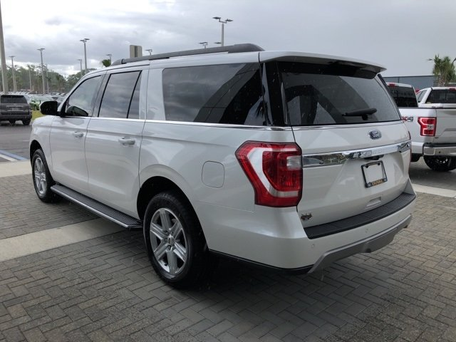 2018 White Metallic Ford Expedition Max XLT 4 Door RWD SUV EcoBoost 3.5L V6 GTDi DOHC 24V Twin Turbocharged Engine