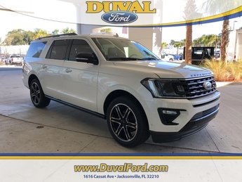 2019 White Metallic Ford Expedition Max Limited 4 Door Automatic RWD EcoBoost 3.5L V6 GTDi DOHC 24V Twin Turbocharged Engine SUV