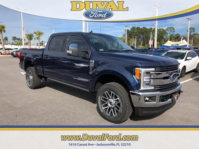 2019 Blue Jeans Metallic Ford Super Duty F-250 SRW Lariat Power Stroke 6.7L V8 DI 32V OHV Turbodiesel Engine 4 Door Automatic 4X4