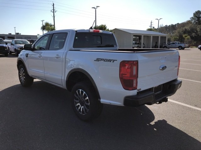 2019 White Platinum Clearcoat Ford Ranger Lariat RWD EcoBoost 2.3L I4 GTDi DOHC Turbocharged VCT Engine Truck 4 Door Automatic