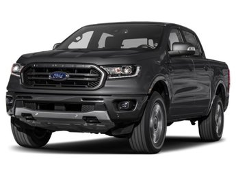 2019 Shadow Black Ford Ranger Lariat EcoBoost 2.3L I4 GTDi DOHC Turbocharged VCT Engine 4 Door Truck Automatic