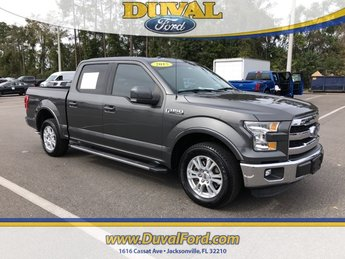 2015 Magnetic Metallic Ford F-150 Lariat 4 Door Automatic 5.0L V8 FFV Engine RWD Truck