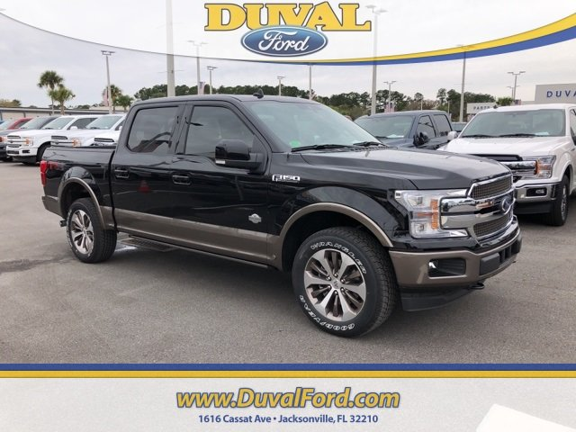 2019 Agate Black Metallic Ford F-150 King Ranch Automatic EcoBoost 3.5L V6 GTDi DOHC 24V Twin Turbocharged Engine 4X4 4 Door