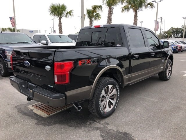 2019 Agate Black Metallic Ford F-150 King Ranch EcoBoost 3.5L V6 GTDi DOHC 24V Twin Turbocharged Engine Automatic Truck