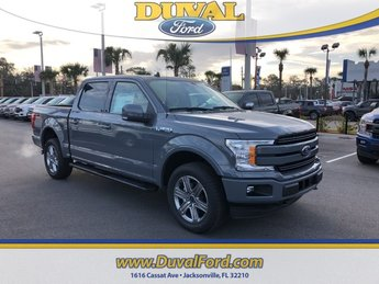 2019 Gray Metallic Ford F-150 Lariat 4 Door 4X4 EcoBoost 3.5L V6 GTDi DOHC 24V Twin Turbocharged Engine