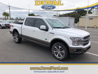 2019 White Metallic Ford F-150 King Ranch 4 Door Truck EcoBoost 3.5L V6 GTDi DOHC 24V Twin Turbocharged Engine