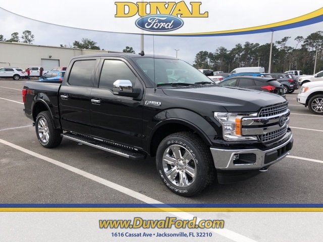 2019 Agate Black Metallic Ford F-150 Lariat 4X4 EcoBoost 3.5L V6 GTDi DOHC 24V Twin Turbocharged Engine Truck 4 Door