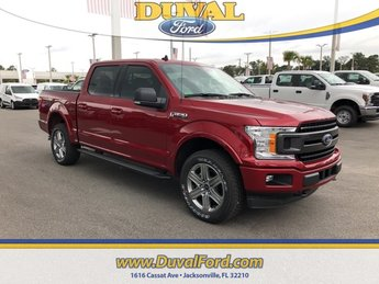 2019 Ruby Red Metallic Tinted Clearcoat Ford F-150 XLT 4X4 Automatic Truck EcoBoost 3.5L V6 GTDi DOHC 24V Twin Turbocharged Engine 4 Door
