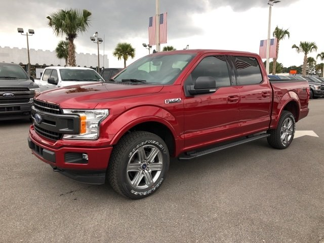 2019 Ruby Red Metallic Tinted Clearcoat Ford F-150 XLT 4X4 Truck EcoBoost 3.5L V6 GTDi DOHC 24V Twin Turbocharged Engine Automatic 4 Door