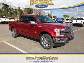 2019 Ruby Red Metallic Tinted Clearcoat Ford F-150 King Ranch Truck 4X4 Automatic EcoBoost 3.5L V6 GTDi DOHC 24V Twin Turbocharged Engine 4 Door
