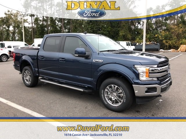 2019 Blue Ford F-150 Lariat Automatic 4X4 4 Door Truck 5.0L V8 Ti-VCT Engine