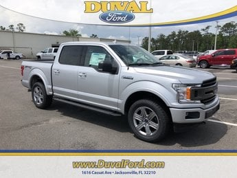 2018 Ingot Silver Metallic Ford F-150 XLT 4 Door Automatic 5.0L V8 Ti-VCT Engine 4X4 Truck