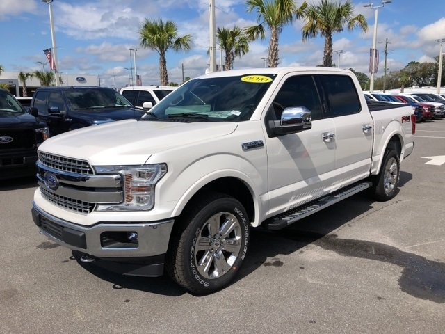 2018 White Metallic Ford F-150 Lariat 4X4 5.0L V8 Ti-VCT Engine Automatic