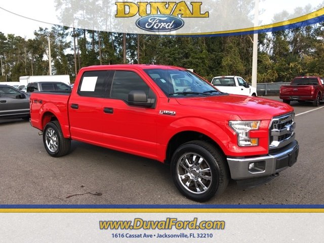 2016 Race Red Ford F-150 5.0L V8 FFV Engine 4 Door 4X4 Truck