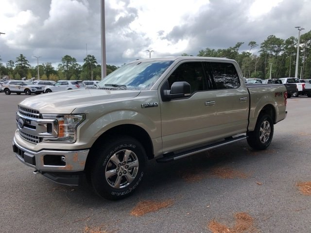 2018 White Gold Ford F-150 Lariat EcoBoost 2.7L V6 GTDi DOHC 24V Twin Turbocharged Engine 4X4 Automatic 4 Door Truck