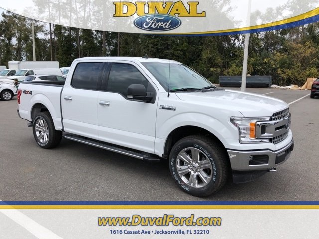 2019 Oxford White Ford F-150 XLT 4X4 4 Door Automatic EcoBoost 2.7L V6 GTDi DOHC 24V Twin Turbocharged Engine