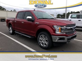 2019 Ruby Red Metallic Tinted Clearcoat Ford F-150 Lariat 4 Door Truck EcoBoost 2.7L V6 GTDi DOHC 24V Twin Turbocharged Engine
