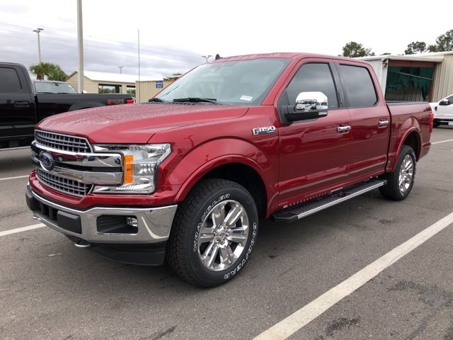 2019 Ruby Red Metallic Tinted Clearcoat Ford F-150 Lariat 4X4 EcoBoost 2.7L V6 GTDi DOHC 24V Twin Turbocharged Engine Automatic Truck