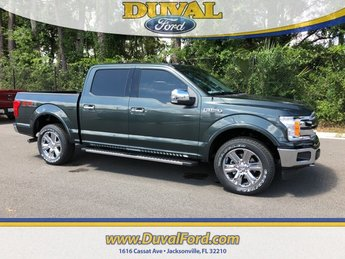 2018 Guard Metallic Ford F-150 Lariat Truck 4X4 EcoBoost 2.7L V6 GTDi DOHC 24V Twin Turbocharged Engine Automatic