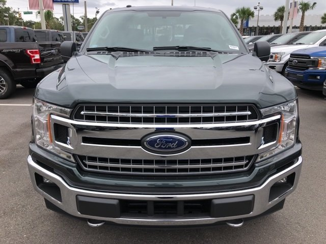 2018 Guard Metallic Ford F-150 XLT 4X4 EcoBoost 2.7L V6 GTDi DOHC 24V Twin Turbocharged Engine Truck